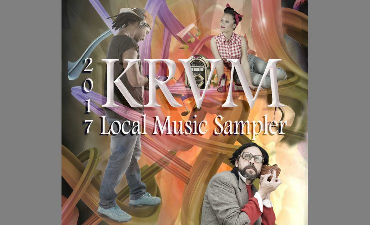 2017 KRVM Local Music Sampler CD cover