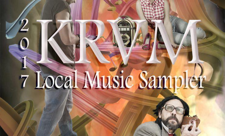 2017 KRVM Local Music Sampler CD cover