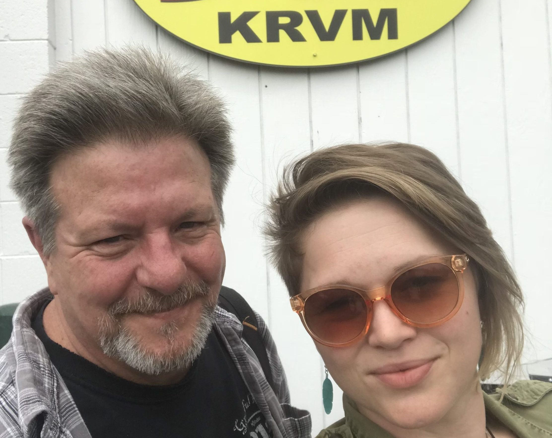 Crystal Bowersox visits the KRVM studios